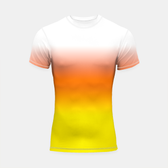 Yellow Orange and White Halloween Candy Corn Shortsleeve rashguard thumbnail image