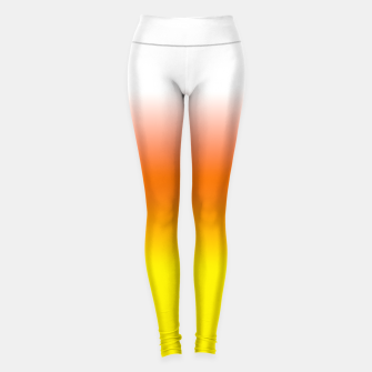 Yellow Orange and White Halloween Candy Corn Leggings thumbnail image