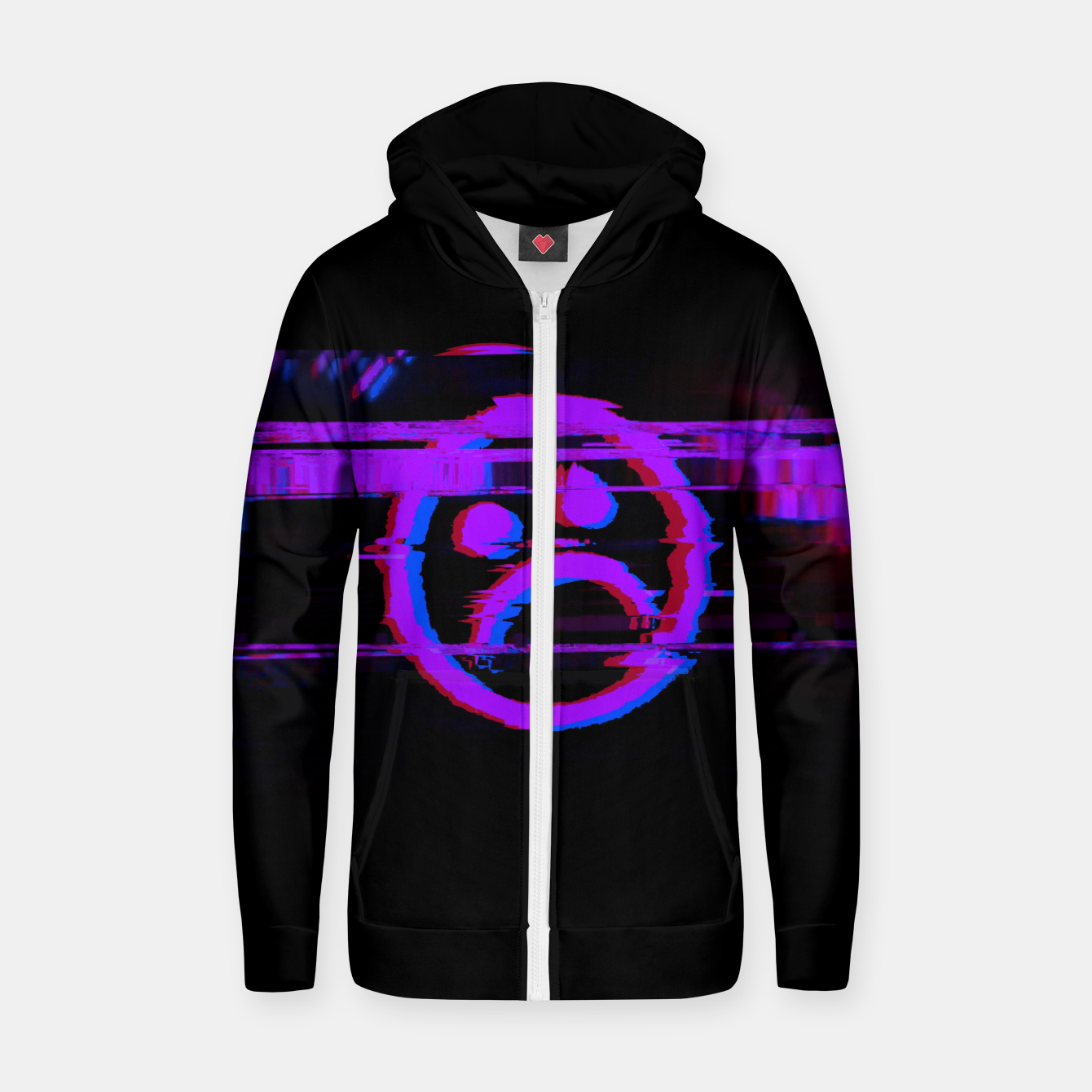 Image of SDBY_purple Cotton zip up hoodie - Live Heroes