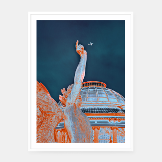 Thumbnail image of Letting Fly | White Framed Poster, Live Heroes