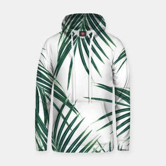 Thumbnail image of Green Palm Leaves Dream #2 #tropical #decor #art Baumwoll Kapuzenpullover, Live Heroes