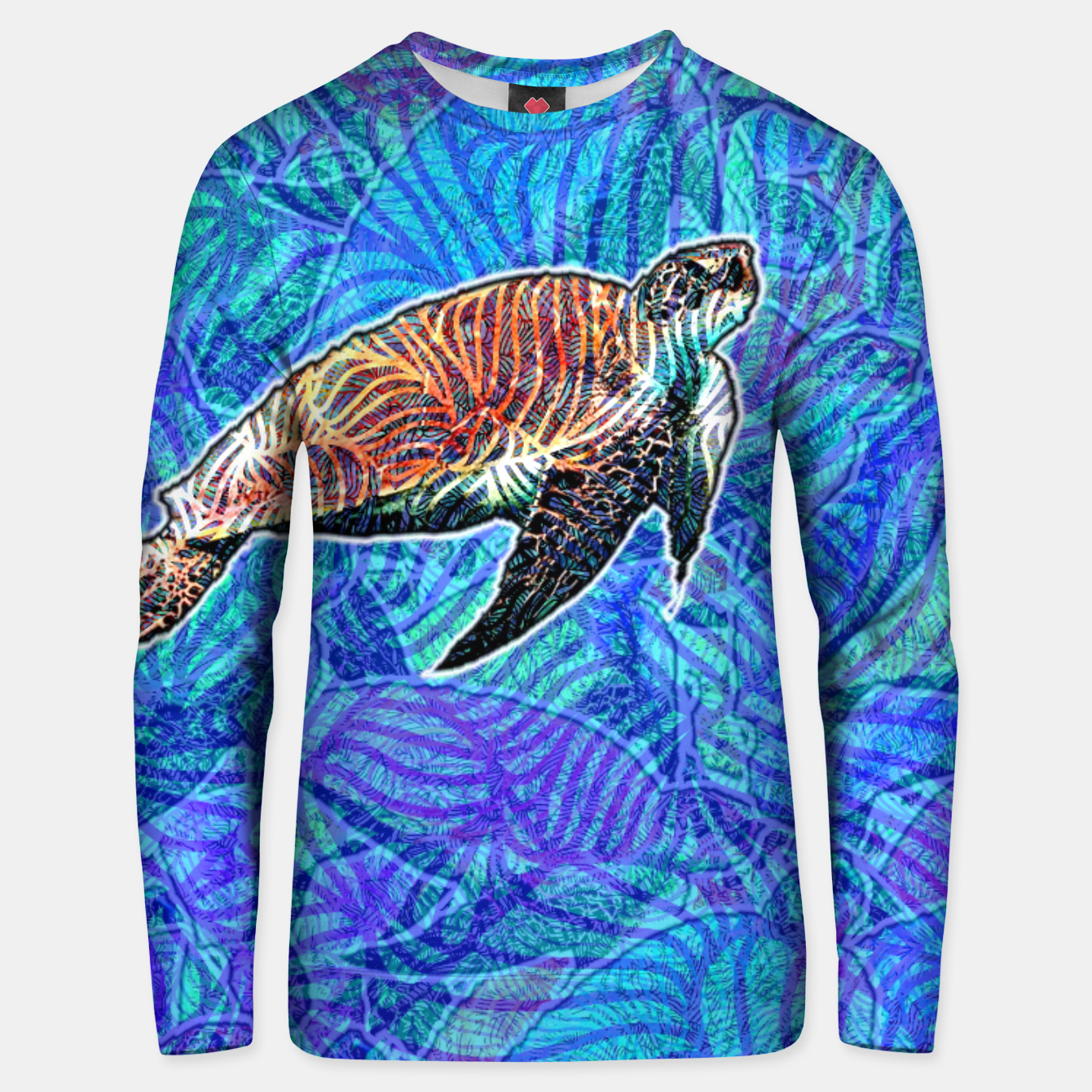 Image of turtle Cotton sweater - Live Heroes