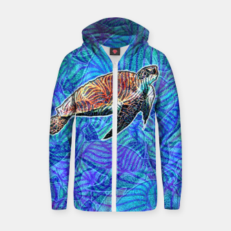 Thumbnail image of turtle Cotton zip up hoodie, Live Heroes