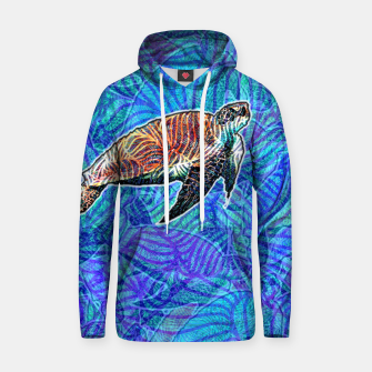 Thumbnail image of turtle Cotton hoodie, Live Heroes