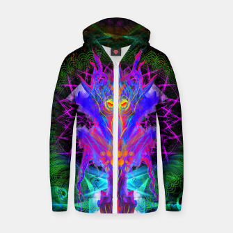 Thumbnail image of Lord Rokklu From Orion (Vallios Visual Kung Fu Collab) Cotton zip up hoodie, Live Heroes