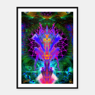 Thumbnail image of Lord Rokklu From Orion (Vallios Visual Kung Fu Collab) Framed poster, Live Heroes