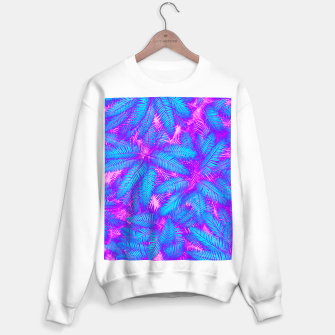 Thumbnail image of Jungle Heat bright colourful abstract tropical jungle palm leaves pattern Sweater regular, Live Heroes