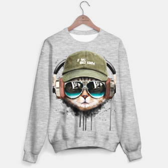 Music Cat Sudadera regular Bild der Miniatur