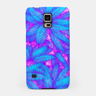 Jungle Heat bright colourful abstract tropical jungle palm leaves pattern Samsung Case thumbnail image
