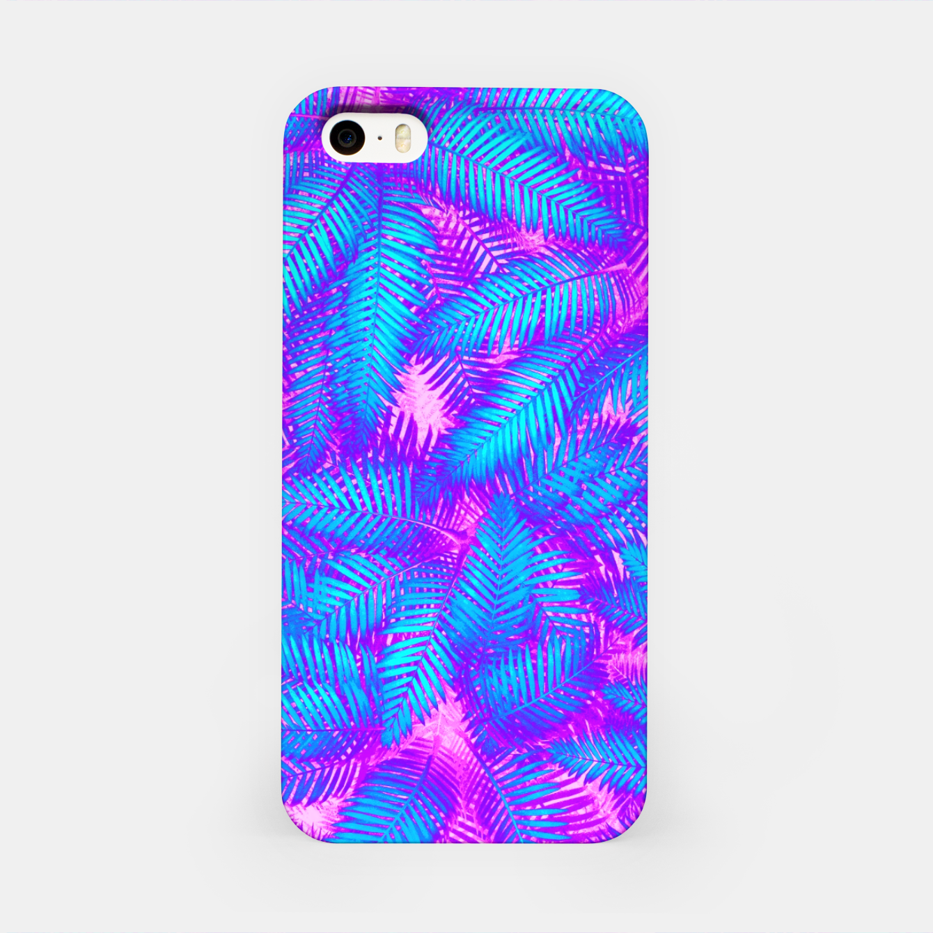 Image of Jungle Heat bright colourful abstract tropical jungle palm leaves pattern iPhone Case - Live Heroes