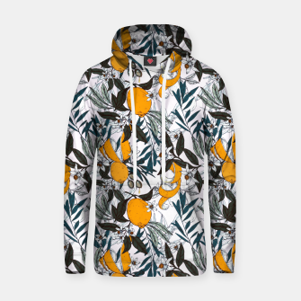 Thumbnail image of olives among the orange flowers Sudadera con capucha de algodón, Live Heroes