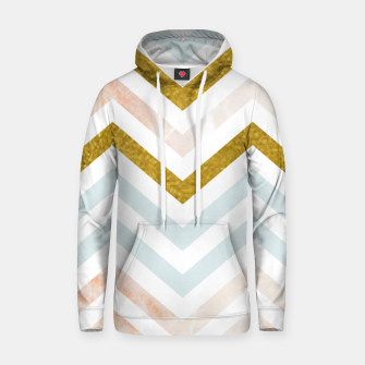 Thumbnail image of Gold and Marble Stripes Cotton hoodie, Live Heroes