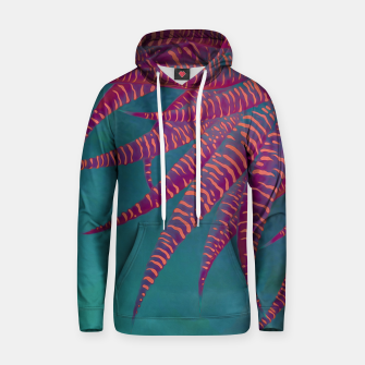 "Thumbnail image of ""Agave psychedelic colors pop-art Sci Fi Jungle"" Sudadera con capucha de algodón, Live Heroes"