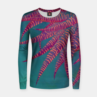 "Thumbnail image of ""Agave psychedelic colors pop-art Sci Fi Jungle"" Sudadera de algodón para mujer, Live Heroes"
