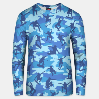 Thumbnail image of Skater Camo pattern OCEAN Cotton sweater, Live Heroes