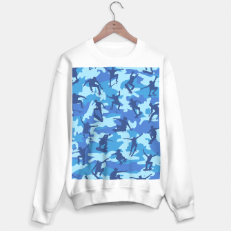 Thumbnail image of Skater Camo pattern OCEAN Sweater regular, Live Heroes
