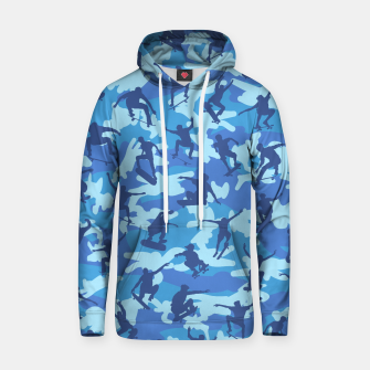 Thumbnail image of Skater Camo pattern OCEAN Cotton hoodie, Live Heroes