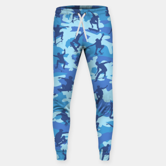 Thumbnail image of Skater Camo pattern OCEAN Cotton sweatpants, Live Heroes