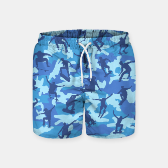 Thumbnail image of Skater Camo pattern OCEAN Swim Shorts, Live Heroes