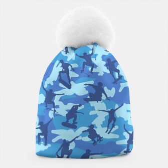 Thumbnail image of Skater Camo pattern OCEAN Beanie, Live Heroes
