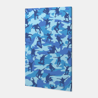 Thumbnail image of Skater Camo pattern OCEAN Canvas, Live Heroes