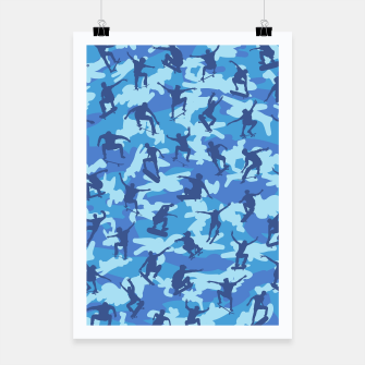 Thumbnail image of Skater Camo pattern OCEAN Poster, Live Heroes