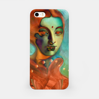 "Thumbnail image of ""Exotic woman in green and orange tropical jungle"" Carcasa por Iphone, Live Heroes"
