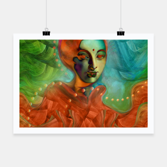 "Thumbnail image of ""Exotic woman in green and orange tropical jungle"" Cartel, Live Heroes"