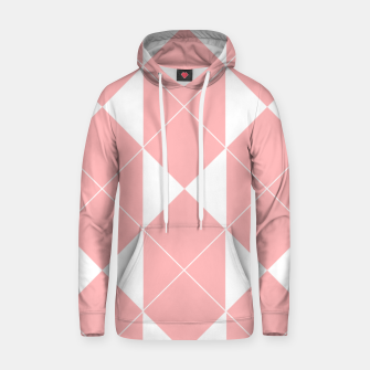 Thumbnail image of Abstract geometric pattern - pink and white. Cotton hoodie, Live Heroes