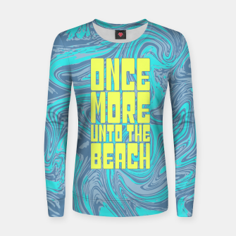 Once More Unto The Beach Woman cotton sweater thumbnail image
