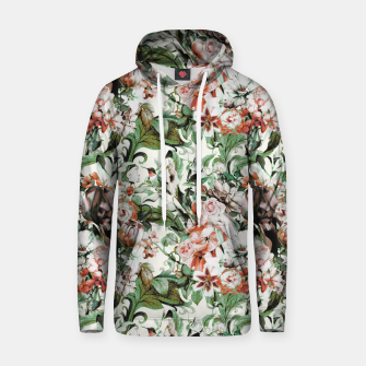 Thumbnail image of Exotic flowery abstract bouquet Sudadera con capucha de algodón, Live Heroes
