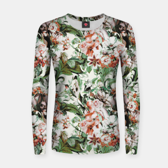 Thumbnail image of Exotic flowery abstract bouquet Sudadera de algodón para mujer, Live Heroes