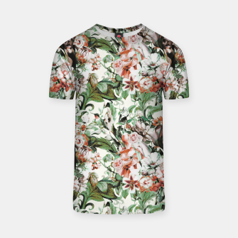 Thumbnail image of Exotic flowery abstract bouquet Camiseta, Live Heroes