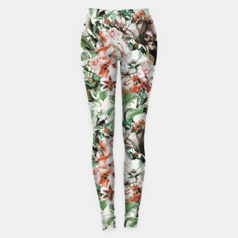 Thumbnail image of Exotic flowery abstract bouquet Leggings, Live Heroes