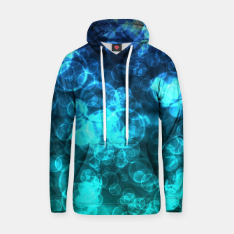 Thumbnail image of Blue Bokeh Light Bubbles Cotton hoodie, Live Heroes