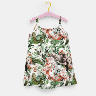 Thumbnail image of Exotic flowery abstract bouquet Vestido para niñas, Live Heroes