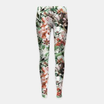 Thumbnail image of Exotic flowery abstract bouquet Leggings para niña, Live Heroes