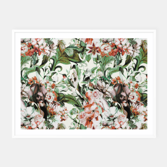 Thumbnail image of Exotic flowery abstract bouquet Cartel con marco, Live Heroes