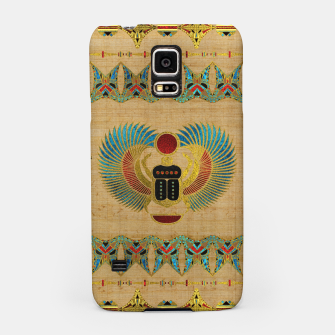 Thumbnail image of Egyptian Scarab  beetle  Ornament on papyrus  Samsung Case, Live Heroes