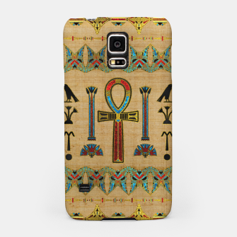 Thumbnail image of Egyptian Cross - Ankh Ornament on papyrus  Samsung Case, Live Heroes