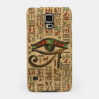 Thumbnail image of Egyptian Eye of Horus Ornament on papyrus  Samsung Case, Live Heroes
