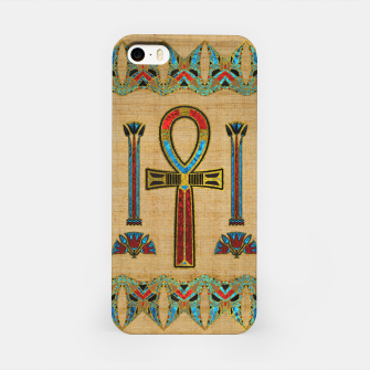 Thumbnail image of Egyptian Cross - Ankh Ornament on papyrus  iPhone Case, Live Heroes