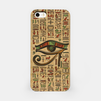 Thumbnail image of Egyptian Eye of Horus Ornament on papyrus  iPhone Case, Live Heroes