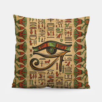 Thumbnail image of Egyptian Eye of Horus Ornament on papyrus  Pillow, Live Heroes