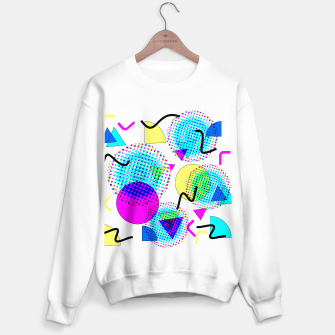 Memphis Retro 80's Pop-art Pattern Sweater regular thumbnail image