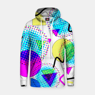 Memphis Retro 80's Pop-art Pattern Cotton hoodie thumbnail image