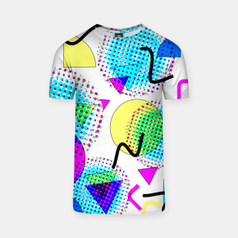Thumbnail image of Memphis Retro 80's Pop-art Pattern T-shirt, Live Heroes