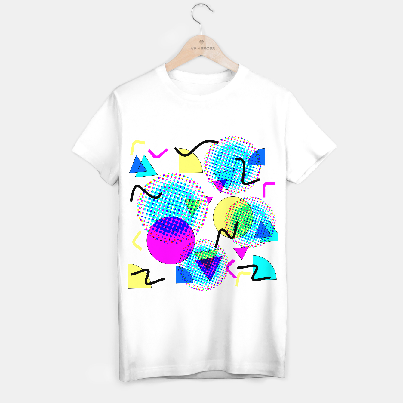 Image of Memphis Retro 80's Pop-art Pattern T-shirt regular - Live Heroes