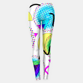 Thumbnail image of Memphis Retro 80's Pop-art Pattern Leggings, Live Heroes