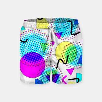 Memphis Retro 80's Pop-art Pattern Swim Shorts thumbnail image